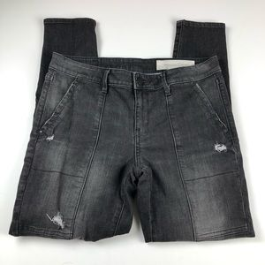 Treasure & Bond distressed utility jean black 29
